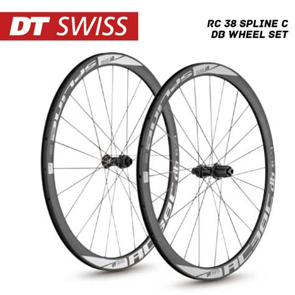 (送料無料)DT SWISS DT スイス チューブレスレディ RC-38 Spline C db Wheel Set RC38スプラインC db ホイールセット シマノ(10S 11S対応)(4935012339342)