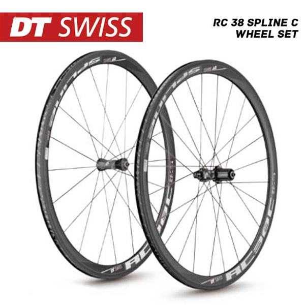 (送料無料)DT SWISS DT スイス チューブレスレディ ホイール RC-38 Spline C Wheel Set RC38スプラインCホイールセット シマノ(10S 11S対応) (4935012339335)