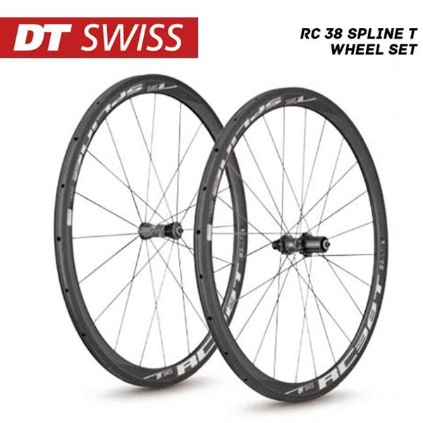 (送料無料)DT SWISS DT スイス ホイール RC-38 Spline T Wheel Set RC38スプラインTホイールセット シマノ(10S 11S対応) (4935012339601)