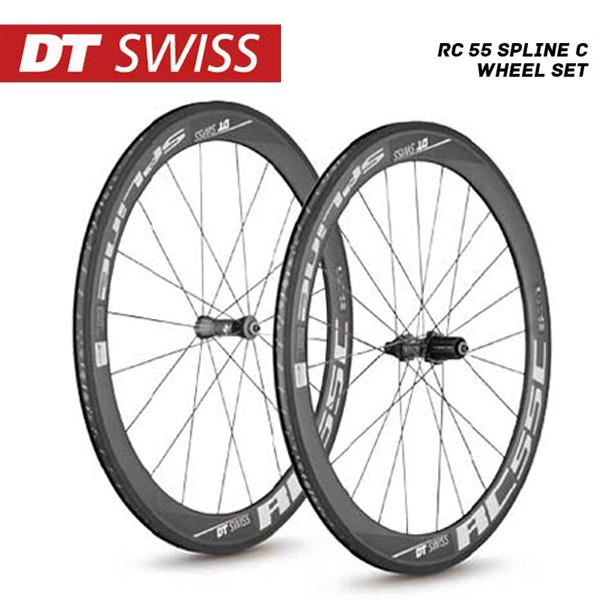 (送料無料)DT SWISS DT スイス レディホイール RC-55 Spline C Wheel Set RC55スプラインCホイールセット シマノ(10S 11S対応) (4935012339328)