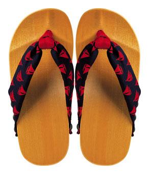 [日本製]子どもげた <CH-07> ヨット/紺・赤【スキップ ぴぃす】【SKiP】 【クレジットOK】水鳥工業 げたのみずとり 下駄 靴 シューズ サンダル