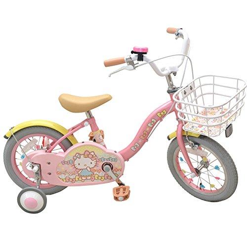 エムアンドエム ハローキティ・ミルキーリボン 14インチ<完成品>★今なら自転車カバープレゼント!【クレジットOK!】【包装不可】子供用自転車 カジキリ可能