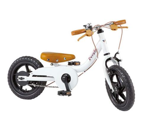 ケッターサイクル 12インチ アウトレット ブルーミングホワイト アウトレット YGA311 幼児用自転車 包装不可 ピープル 子供