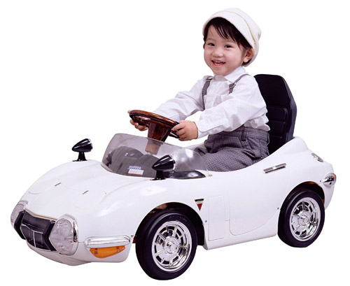 [電動] トヨタ 2000GT バッテリーカー ホワイト TGT-B 【送料無料(北海道・沖縄を除く)】 ミズタニ A-KIDS 乗用 充電式 のりもの 車 2000GT