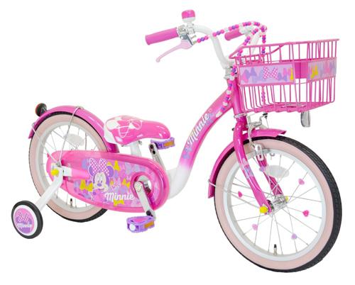 アイデス ミニーマウス Poppin`Ribbon 16インチ<完成品>★今なら自転車カバープレゼント!【クレジットOK!】【包装不可】アイデス ides 子供用自転車