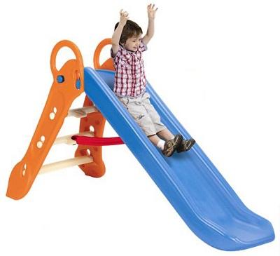 <大>折りたたみロングすべり台 ブルー【SG-BG-BL Grow'n up 】【クレジットOK!】ヤトミ 大型遊具 スライダー 折りたたみ式 折り畳み