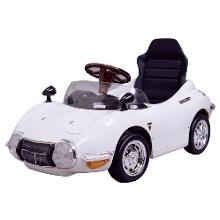 トヨタ 2000GT 押し手なし ホワイト TGT-N ミズタニ【クレジットOK!セール期間限定】ペダルカー (足こぎ式)> ミズタニ
