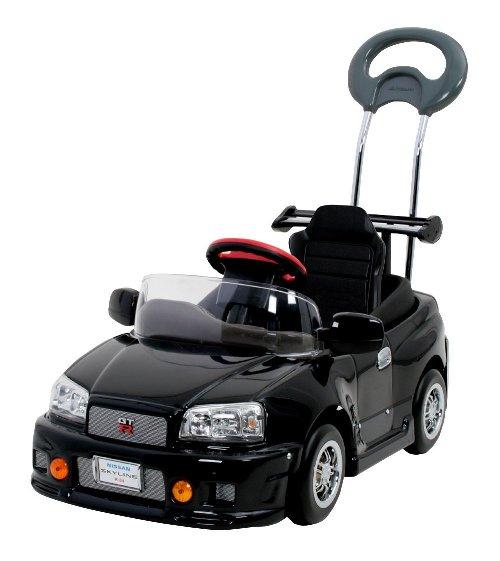 [日本製] スカイラインGT-R R34 ペダルカー 押し手付き R34-H 【送料無料(北海道、沖縄は除く)】 ミズタニ A-KIDS 足こぎ式 乗用 車 のりもの