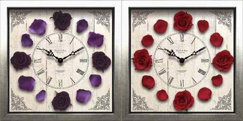 ウォールクロック 壁掛け時計 クラシックローズ オシャレ 華やか WALL CLOCK 可愛いインテリア 【プレゼント】【結婚祝い】【誕生日ギフト】