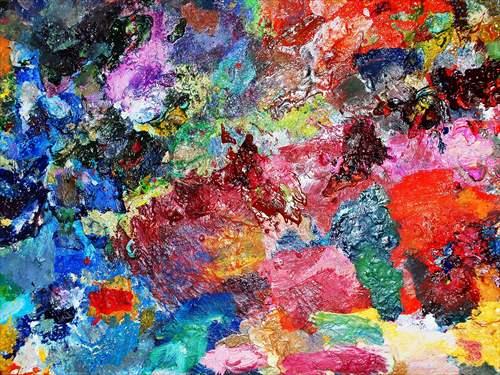 パネルフレーム インテリアパネル Art palette bacground IAP51589 キャンバス モダンアート お洒落インテリア 取寄品 のし利用可