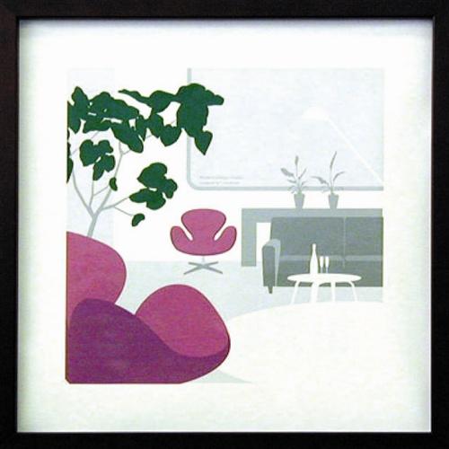 【送料無料】ToshiakiYasukawa ITY-14040 インテリアアートポスター額付通販【取寄品】【プレゼント】【バースデー 誕生日ギフト】 【のし利用可】