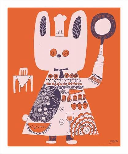 パネルフレーム カフェ風インテリア see saw. 赤のテーブル キャンバス イラストレーター お洒落インテリア 取寄品 結婚祝い のし利用可
