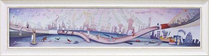 取寄品 なかの まりの 風景画 額付きポスター トワイライトゾーン L 和洋折衷