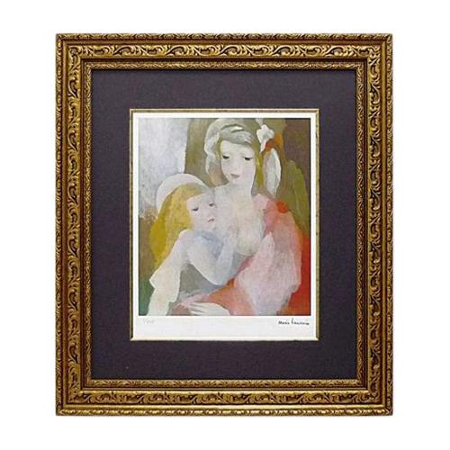 取寄品 マリー ローランサン 母と子 額付きポスター インテリアアート 名画