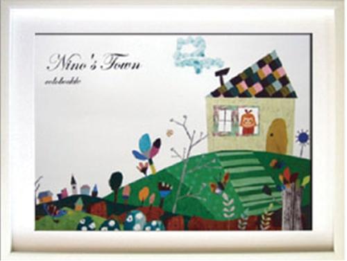 コロボックル Colobockle カフザンの丘 額付インテリアアートポスター 取寄品 結婚祝い のし利用可