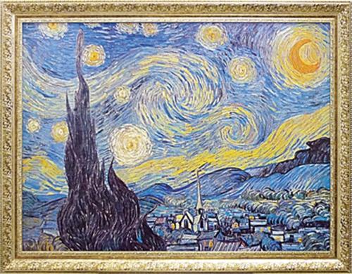 取寄品 フィンセント ファン ゴッホ Starry Night 1889 額付きポスター 名画インテリアアート