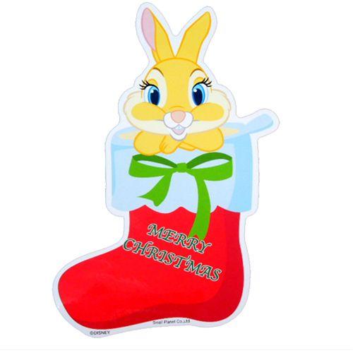 ギフト ディズニー キャラクター かわいい グッズ 雑貨 正規店 ミスバニー ベルコモン ダイカットBIGステッカー メール便可 クリスマス
