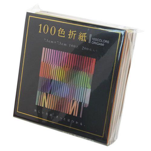 100色機會看玩具7.5cm*7.5cm折紙愛媛紙工200張裝日本製造千衹紙鶴郵購鈴一般