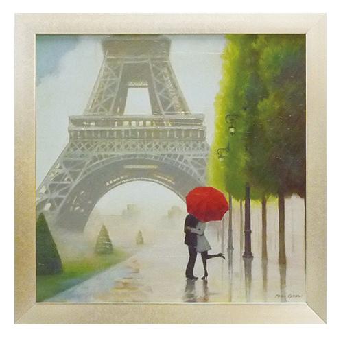 取寄品 マルコ ファビアノ 風景画 額付きポスター パリ ロマンス2 フランス印象派 インテリア 雑貨