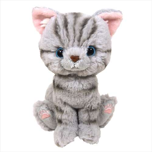Stuffed toy S plush Kitten American shorthair   grey cats fire shard 16.5  cm CAT store b4ee775ab495