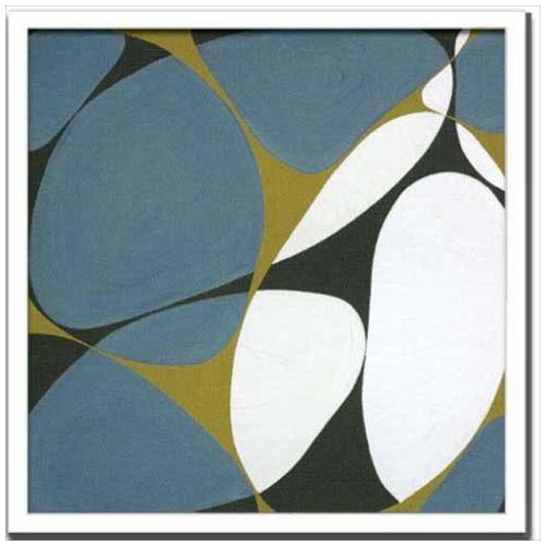 【送料無料】デザイナーズアート インテリア アート Hartnett Flower Power 10 美工社 53×53cm 壁掛け 額付き抽象画 【取寄品】【プレゼント】【結婚祝い】【引越し祝い/新築祝い/開業祝い】