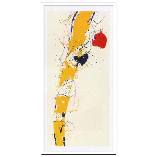 【送料無料】デザイナーズアート インテリア アート Sam Francis Untitled 1985 美工社 49×99.5cm 壁掛け 額付き抽象画通販 【取寄品】【プレゼント】ベルコモン【結婚祝い】【引越し祝い/新築祝い/開業祝い】