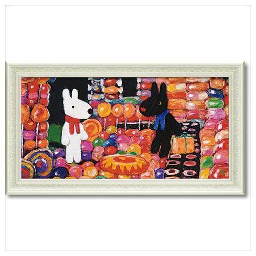 【送料無料】アート フレーム L ワイド フレンチ アート 額付ポスター リサとガスパール キャンディーハウス 67.5×37.5cm 可愛い ギフト 通販 【取寄品】【プレゼント】ベルコモン【結婚祝い】【出産祝い/誕生祝い】0