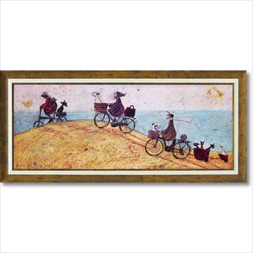 アート フレーム エレクトリックバイクライド 額縁つき ポスター サム トフト 絵画 ギフト インテリアグッズ 取寄品