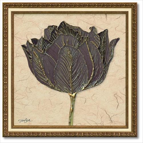 Art Frames ゴールドブラックチューリップ ダイアン スティムソン フラワー アート 花 額付きポスター インテリアグッズ 取寄品