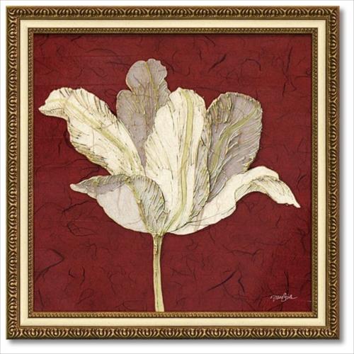 Art Frames チューリップウィズレッド ダイアン スティムソン フラワー アート 花 額付きポスター インテリアグッズ 取寄品