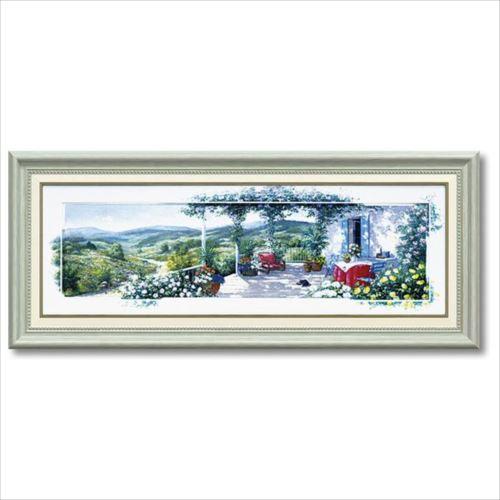 【送料無料】アートフレーム 風景画 ピーター・モッツ パノラマテラス2 Mサイズ ユーパワー 69×29cm 額付きポスター インテリア通販 【取寄品】