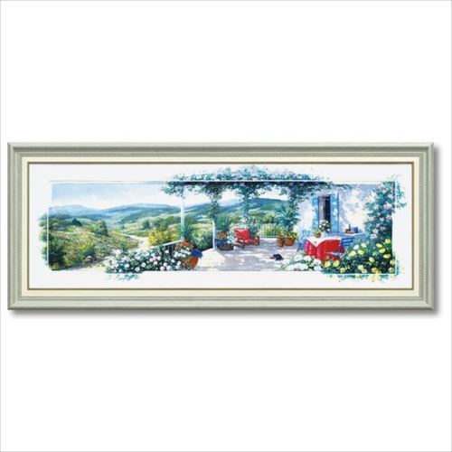 アートフレーム パノラマテラス2 Lサイズ ピーター モッツ 風景画 額付きポスター インテリアグッズ 取寄品