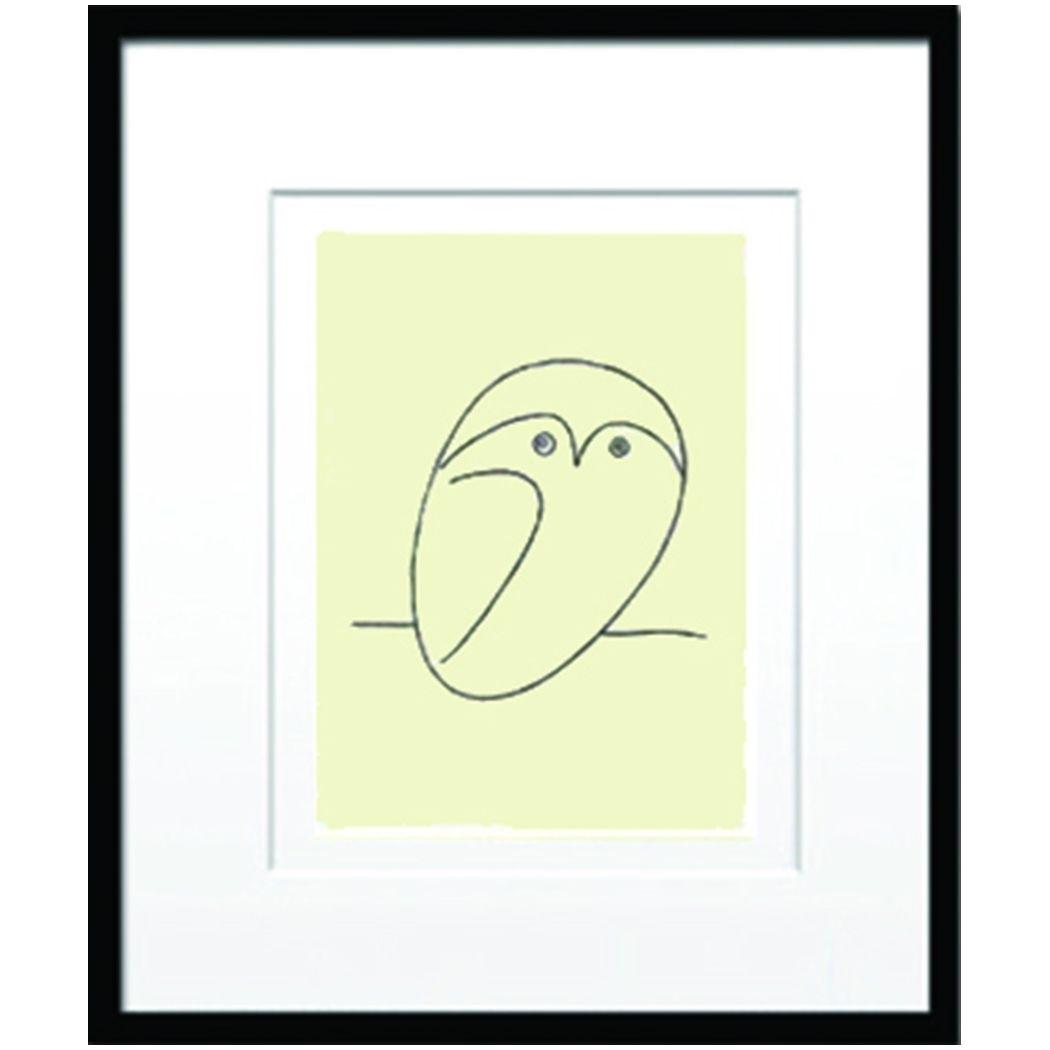 Pablo Picasso 名画 パブロ ピカソ Le hibou 美工社 壁掛け 額付きインテリア 雑貨 取寄品 ベルコモン 結婚祝い 引越し祝い/新築祝い/開業祝い