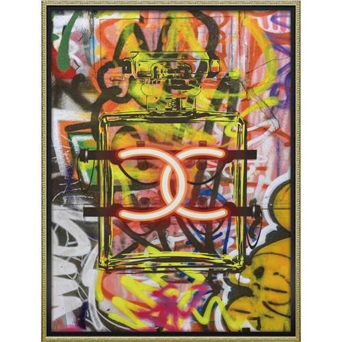 ブランド キャンバスアート グラフィティ パフューム1(Lサイズ) アマンダ グリーンウッド インテリアパネル 63.5x83.5cm 額付き ポスター インテリアグッズ 取寄品