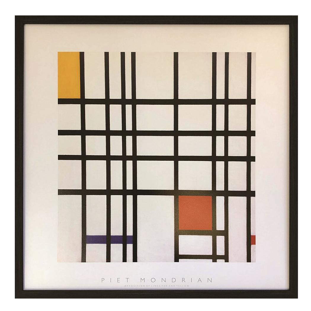 Piet Mondrian インテリア パネル ピエト モンドリアン Opposition of Lines (Red and Yellow) 美工社 額装品 ギフト 装飾インテリア 取寄品 【プレゼント】ベルコモン