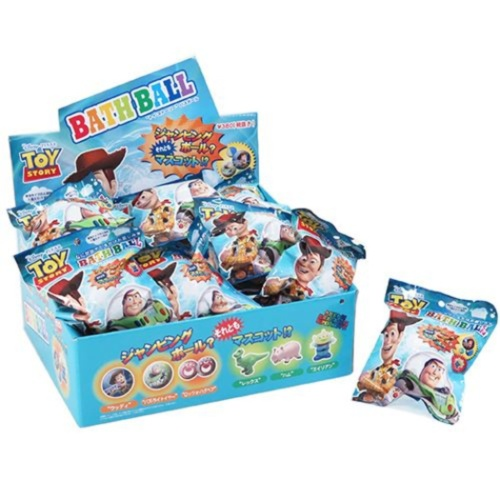 【送料無料】入浴剤 セット バスボール 24個入BOX トイストーリー マスコットが飛び出る ディズニー スペースソーダの香り おもしろ 子供とお風呂 ノルコーポレーションまとめ買い【全品ポイント5倍】12/26まで