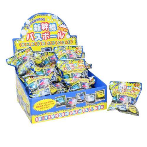 入浴剤 マスコットが飛び出す バスボール 24個入BOX 新幹線 ソープの香り おもちゃ 子供とお風呂 エスケイジャパンまとめ買い