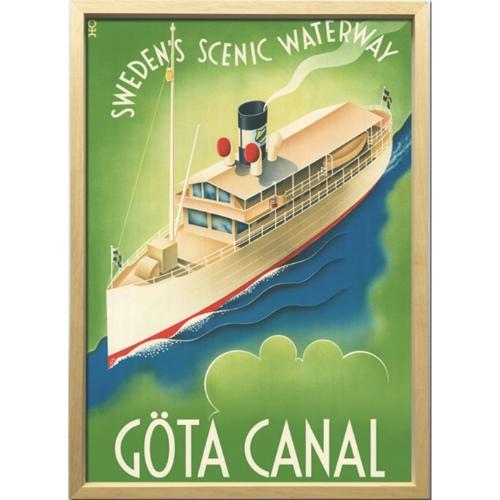ヨータ運河 1936年 アートフレーム Scandinavian Art ZCS-52672 美工社 額付き 北欧インテリア 取寄品