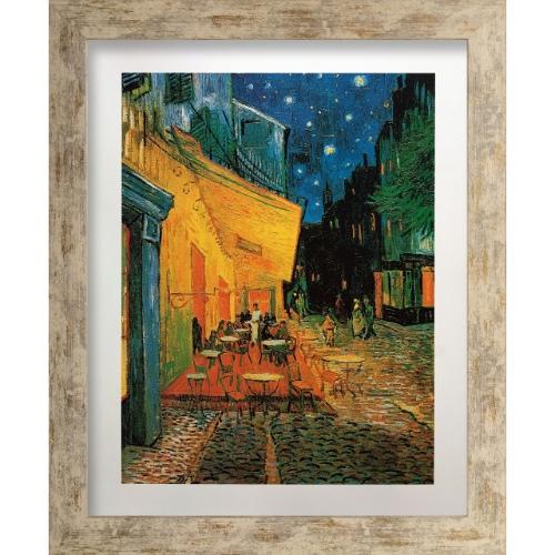 【送料無料】Vincent van Gogh 名画 フィンセント・ファン・ゴッホ Pavement Cafe at night 美工社 ZFA-61764 47.8×57.8×1.5cm ギフト 額付きインテリア通販 【取寄品】【全品ポイント5倍】12/26まで