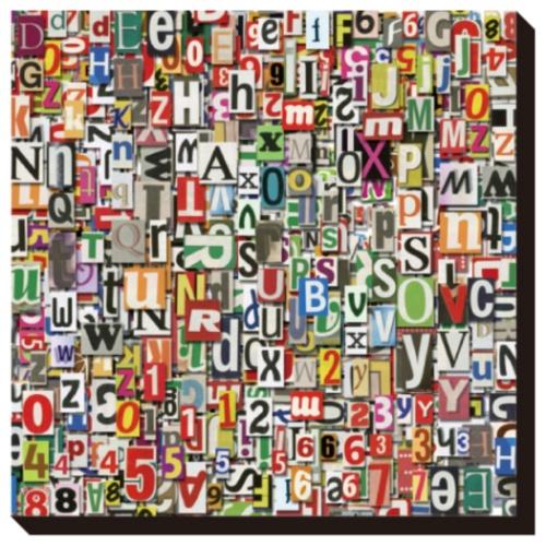 Designed Background インテリア パネル Art Panel Newspaper Clipping 美工社 IAP-52116 キャンバスアートインテリア 取寄品