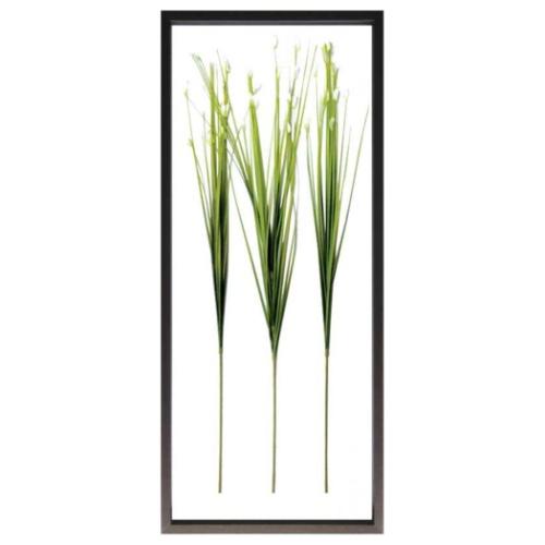 Flower Grass リーフアートフレーム F-style Frame フラワーグラス 美工社 42.5×101.5×3cm 造花 額付きインテリア 取寄品