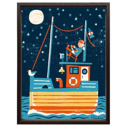 【送料無料】Scandinavian Art アートフレーム ティモ・マンッタリ パイレーツ 美工社 ZTM-52714 32×42×2cm ギフト 額付きインテリア通販 【取寄品】【全品ポイント5倍】12/26まで