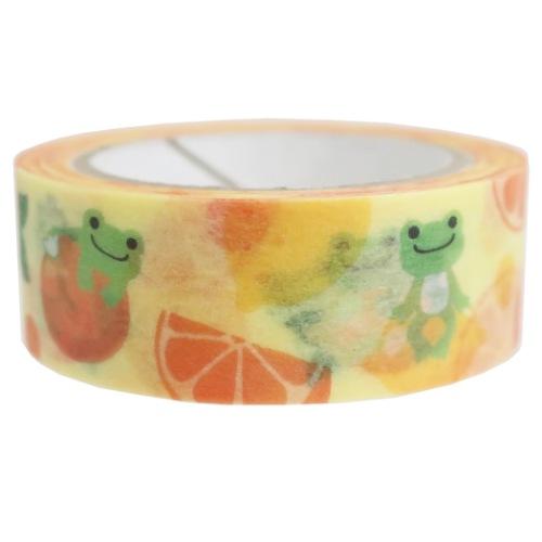 15mm 保証 安心の実績 高価 買取 強化中 マステ マスキングテープ かえるのピクルス レモン ジェイエム オレンジ DECOテープ メール便可