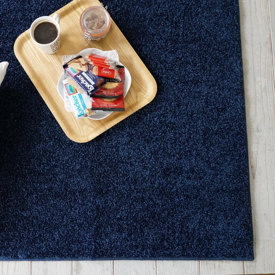 sm-reve130185 送料無料 ラグ ホットカーペット・床暖対応 カーペット じゅうたん ウォッシャブル 滑り止め アイボリー ライトブルー 130cm×185cm