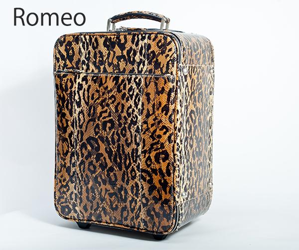 【Romeo】 ロメオ 最高級ヘビ革 旅行バック【キャリー バック2泊 3泊 海外 旅行】