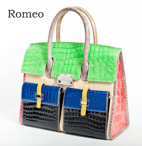 【Romeo】 ロメオ 最高級 本ナイルクロコ革 バック【鞄 かばん アウトレット SALL バック クロコ】