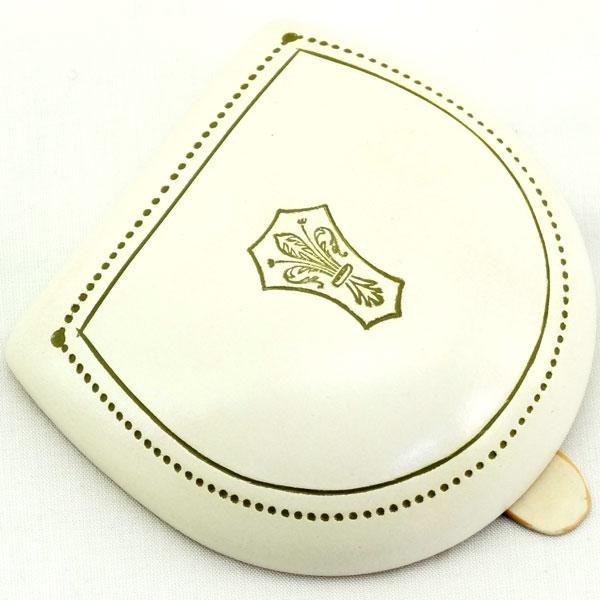 【ペローニ正規輸入品】 純イタリア製 コインケース Peroni 594 Ivory Oldstyle decoration #9 / アイボリー オールドデコレーション#9【楽ギフ_メッセ入力】