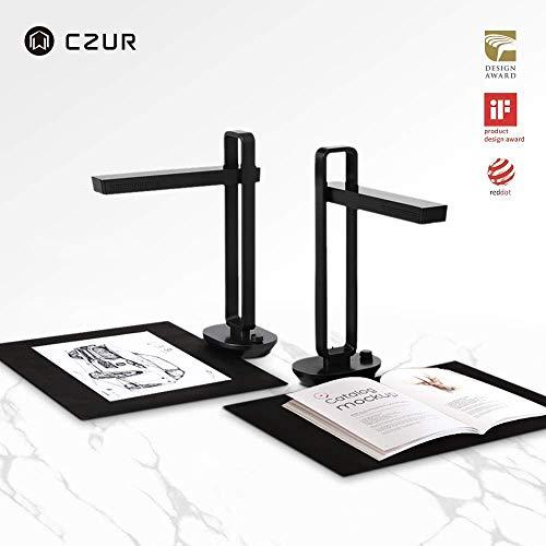 CZUR Aura Pro ドキュメントスキャナー 非破壊 ブックスキャナー a3 スキャナー 1400万画素 OCR機能 LED デスクライト兼用 日本国内