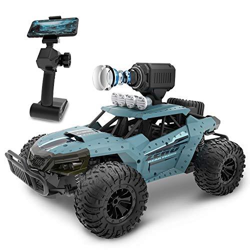 DEERC ラジコンカー こども向け オフロード RCカー カメラ付き 1/16 操作時間30分 時速20km/h 2.4GHz WiFi FPVリアルタイム リモコン