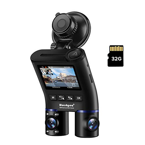 Blueskysea ドライブレコーダー B2W 前後カメラ 車内+車外 WDR 2カメラ ドラレコ 赤外線 暗視機能 HD1080P Wi-Fi SONY製センサー ド